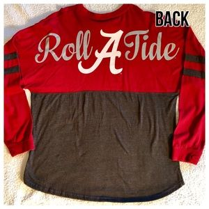 Pressbox Tops - Alabama ROLL TIDE Crimson Gray Spirit Jersey EUC 2378b14ce
